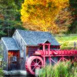 """Little Red Grist Mill"" by George_Oze"