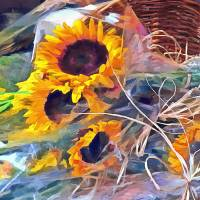 """Basket of Sunflowers"" by Susan Savad"