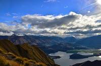 Looking over Lake Wanaka, New Zealand