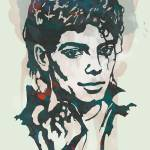 """Michael Jackson Etching Pop Art Poster"" by visualharbour"