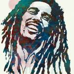 """Bob Marley Stylised Etching Pop Art Poster"" by visualharbour"