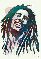 Bob Marley Stylised Etching Pop Art Poster