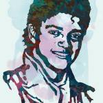 """Michael Jackson Stylised Pop Art Poster"" by visualharbour"