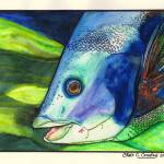 """""""Blue Fish"""" by ChrisCrowley"""