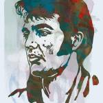 """Elvis presley   - stylised pop art poster"" by visualharbour"