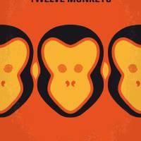 No355 My 12 MONKEYS minimal movie poster Art Prints & Posters by Chungkong Art