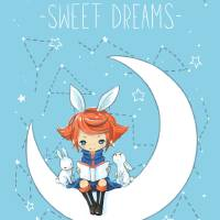 Sweet Dreams Art Prints & Posters by Indre Bankauskaite