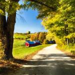 """Vermont Farm Along a Country Road"" by George_Oze"