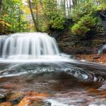 """Rock River Falls in Autumn - Michigan"" by sterk"