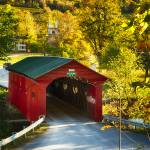 """Vermont Covered Bridge Fall Scenic"" by George_Oze"