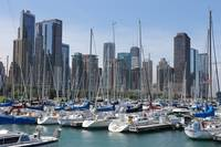 Chicago Harbor in summer