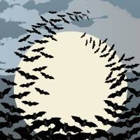 Swarming bats Art Prints & Posters by Richard Laschon