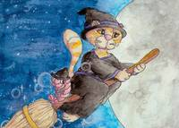 Night Rider Kitty Witch