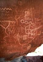 Valley of Fire Sepia Petroglyphs