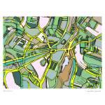 """Brookline"" by carlandcartography"