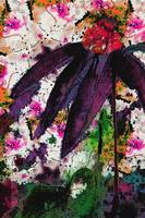 Abstract Purple Coneflower Collage 3