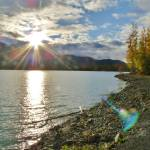 """Eklutna Lake Sunset"" by LUCILLE"