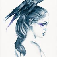 Raven Totem Art Prints & Posters by Michelle Tracey