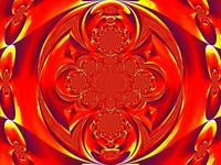 Red Fire Scarab Mandala II
