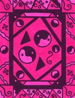 Yin and Yang Pink and Black Haze