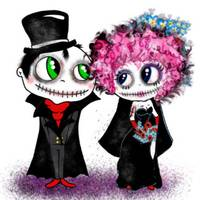 pinkyp zombie bride and groom
