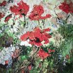 """Red Poppies Oil Painting"" by GinetteCallaway"