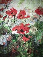 Red Poppies Oil Painting