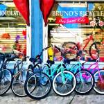 """Bicycles and Chocolate"" by susansartgallery"