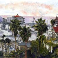 Avalon Harbor Late October Art Prints & Posters by Randy Sprout