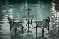 Poolside Chairs and Table