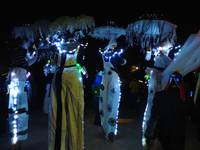 People on Stilts in the Baltimore Lantern Parade
