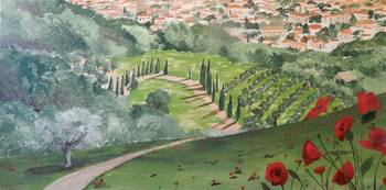 The Poppies of Tuscany 39 5 X 19 5 300