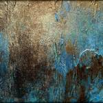 """Abstract Painting, OXIDIZED by Holly Anderson"" by hollyandersonart"