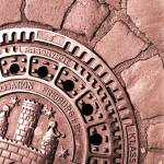 """manhole cover freiburg germany"" by jnanian"