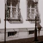 """streetscape, ironwork, freiburg germany"" by jnanian"