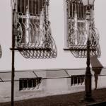 """streetscape, ironwork, freiburg germany"" by jnanian"