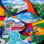 """""""Isla Del Encanto – Puerto Rico Collage with ocean"""" by galina"""