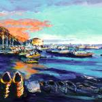 Avalon Harbor Catalina Island Sunset by RD Riccoboni
