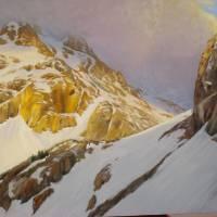 Alpenglow on South Teton Art Prints & Posters by Joe Arnold
