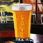 """A Glass of Cold Beer"" by cneartgallery"