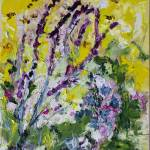 """Lavender and Bees Oil Study"" by GinetteCallaway"