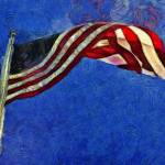 """American Flag"" by artbyclaire"