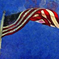 American Flag Art Prints & Posters by Claire Bull
