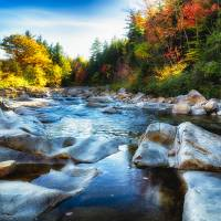 New England Rocky Creek Art Prints & Posters by George Oze