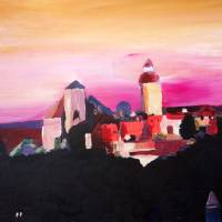 Nuremberg with Castle at Dusk Art Prints & Posters by M Bleichner