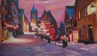 Romantic Rothenburg Tauber Germany Winter Dream La
