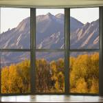 """Boulder Flatirons Autumn Bay Window View"" by lightningman"