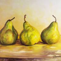 Three Pears Art Prints & Posters by Kevin Meredith