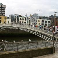 Hapenny Bridge Dublin Art Prints & Posters by Valerie Waters