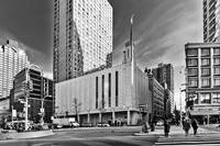 Manhattan Temple Black and White